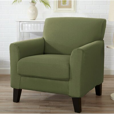 T-Cushion Armchair Slipcover Color: Tea Green