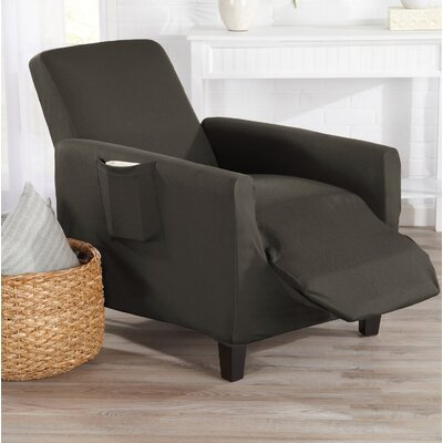 T-Cushion Recliner Slipcover Color: Cloudburst Gray