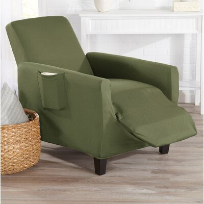 T-Cushion Recliner Slipcover Color: Tea Green