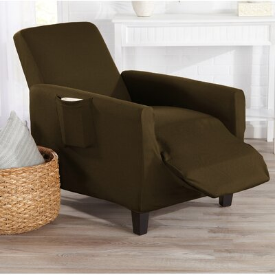 T-Cushion Recliner Slipcover Color: Walnut Brown