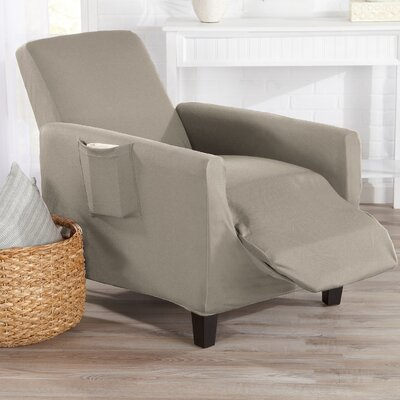T-Cushion Recliner Slipcover Color: Silver Cloud