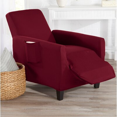 T-Cushion Recliner Slipcover Color: Tawny Port Red
