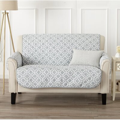 Box Cushion Loveseat Slipcover Color: Storm Gray