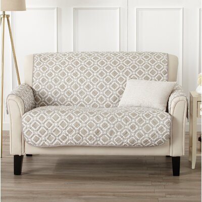 Box Cushion Loveseat Slipcover Color: Silver Cloud