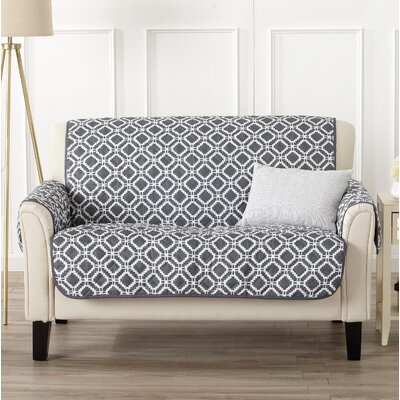 Box Cushion Loveseat Slipcover Color: Steel Gray