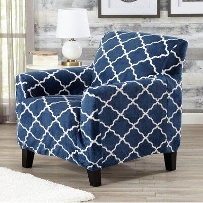 T-Cushion Armchair Slipcover Color: Navy