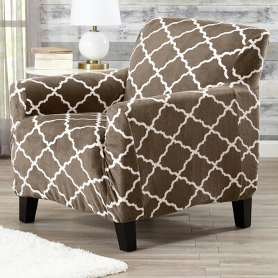 T-Cushion Armchair Slipcover Color: Walnut Brown