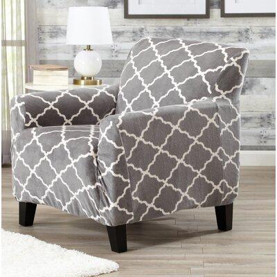 T-Cushion Armchair Slipcover Color: Gray