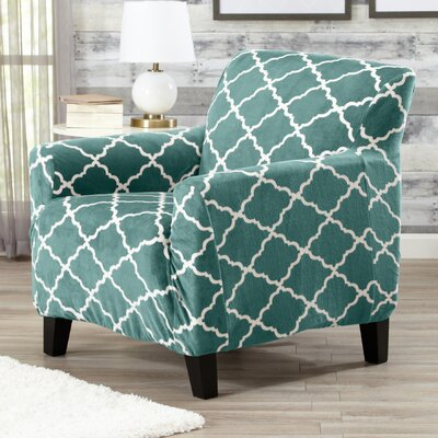 T-Cushion Armchair Slipcover Color: Aqua