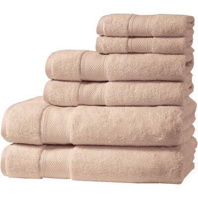 Santorini Luxury 100% Turkish Cotton 6 Piece Towel Set Color: Spanish Villa
