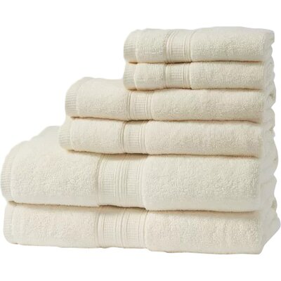 Chapelle Luxury Hotel/Spa 6 Piece Towel Set Color: Ivory