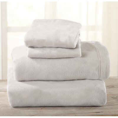 Everton Polar Fleece Solid Flannel Sheet Set Size: Full/Double, Color: Light Gray