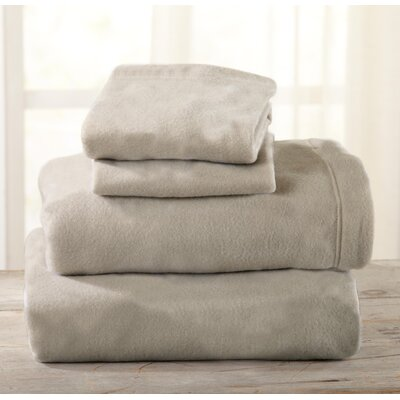 Everton Polar Fleece Solid Flannel Sheet Set Size: Full/Double, Color: Taupe