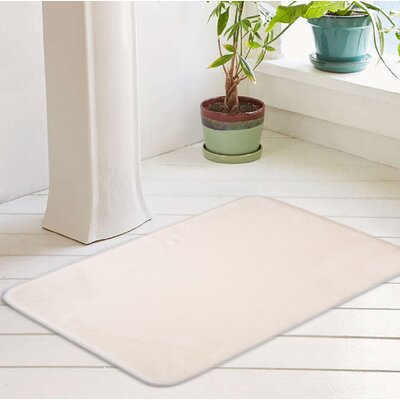 Bath Rug Size: 20 W x 32 L, Color: Whisper White
