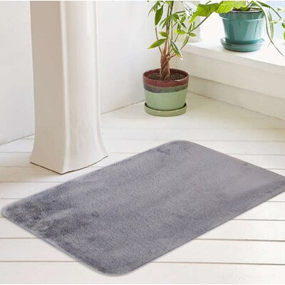 Bath Rug Size: 20 W x 32 L, Color: Paloma Gray