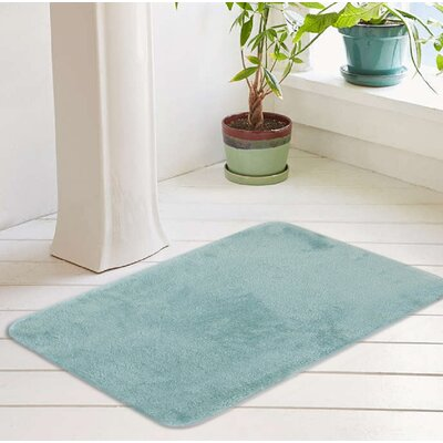 Bath Rug Size: 17 W x 24 L, Color: Ocean Wave