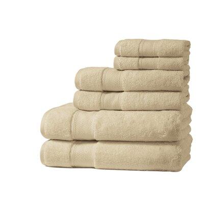 Santorini Luxury 100% Turkish Cotton 6 Piece Towel Set Color: Raffia