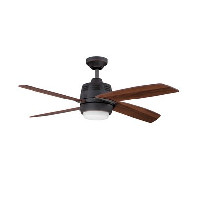 44 Ventura 2 4-Blade Ceiling Fan with Wall Remote Finish: Barcelona Bronze with Walnut Blades
