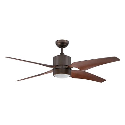 52 Nexor 4-Blade Ceiling Fan with Wall Remote Finish: Architectural Bronze