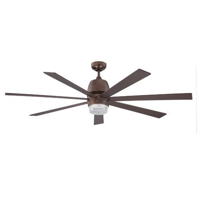 60 Sixty-Seven 7 Blade Ceiling Fan with Wall Remote Finish: Architectural Bronze