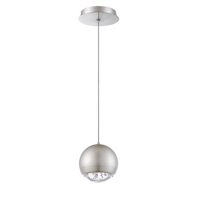 Spumante 1-Light Mini Pendant Finish: Satin Nickel