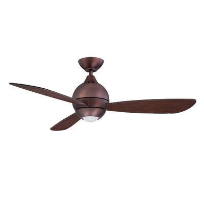 44 Sphere 2 3 Blade LED Ceiling Fan with Remote Finish: Oil Brushed Bronze