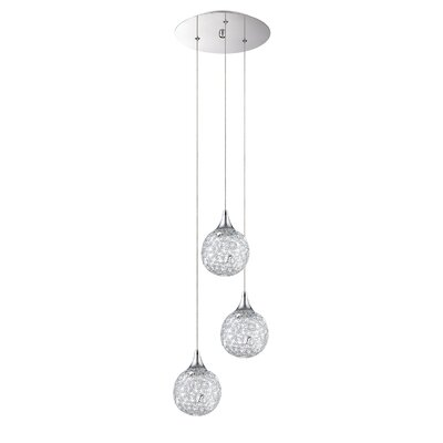 Solaro 3-Light Cascade Pendant