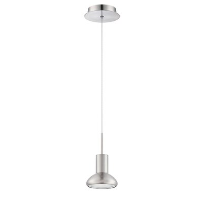 Step up 1-Light Mini Pendant Finish: Satin Nickel