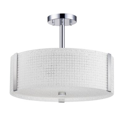 Glacier 3-Light Semi-Flush Mount Size: 12.5 H x 16 W x 16 D