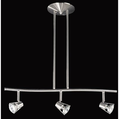 Sorella 3-Light Kitchen Island Pendant Finish: Satin Nickel