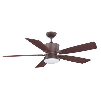 52 Avalon 5-Blade Ceiling Fan with Wall Remote Finish: Oil Brushed Bronze