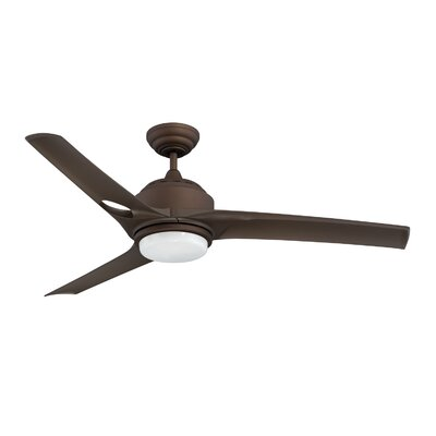 52 Magnum 3-Blade Ceiling Fan with Wall Remote Motor and Blade Motor and Blade Finish: Oil Rubbed Bronze