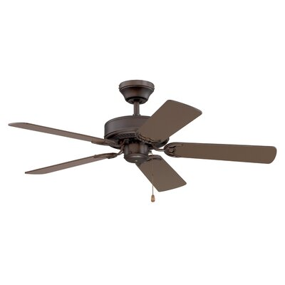 42 Builders Choice 5-Blade Ceiling Fan Finish: Oil Rubbed Bronze