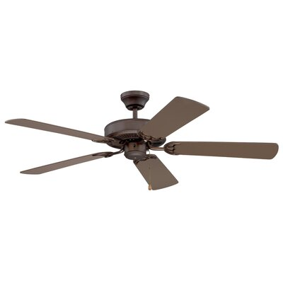 52 Builders Choice 5-Blade Ceiling Fan Finish: Oil Rubbed Bronze