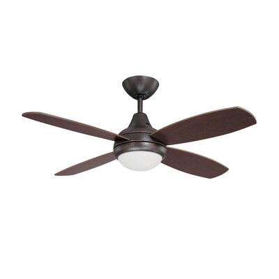 42 Lilla 4-Blade Ceiling Fan with Remote Finish: Copper Bronze