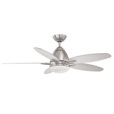44 Navaton 5-Blade Ceiling Fan with Wall Remote Motor Finish: Satin Nickel