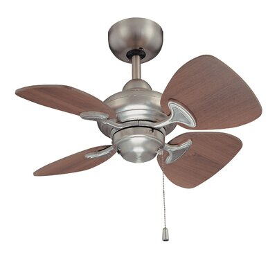 24 Aires 4-Blade Ceiling Fan Finish: Satin Nickel with Royal Walnut Blades