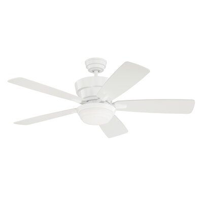 44 Barcelona 5-Blade Ceiling Fan with Wall Remote Finish: White