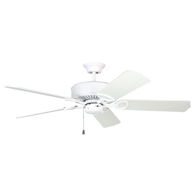 52 Excellence 5-Blade Ceiling Fan Finish: White