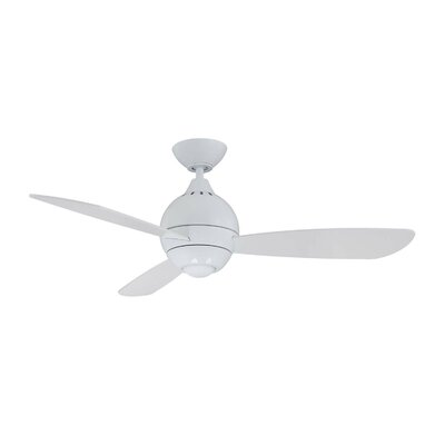 44 Sphere 2 3 Blade LED Ceiling Fan with Remote Finish: White