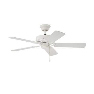 42 Builders Choice 5-Blade Ceiling Fan Finish: White