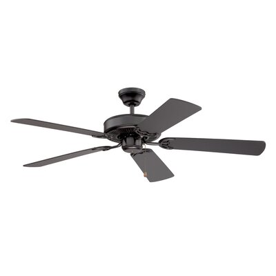 52 Builders Choice 5-Blade Ceiling Fan Finish: Black