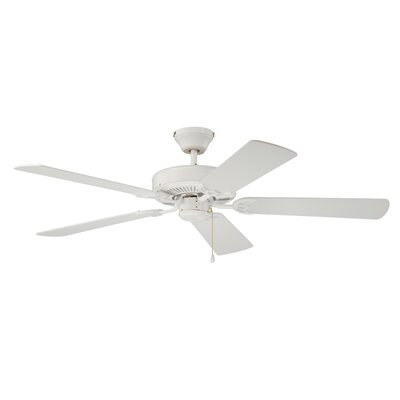 52 Builders Choice 5-Blade Ceiling Fan Finish: White