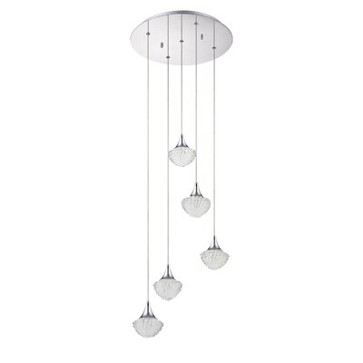 Icicle 5-Light Cascade Pendant