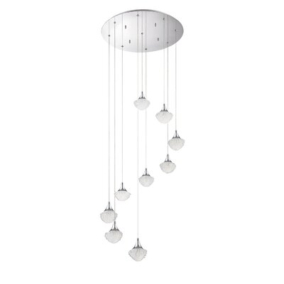 Icicle 9-Light Cascade Pendant