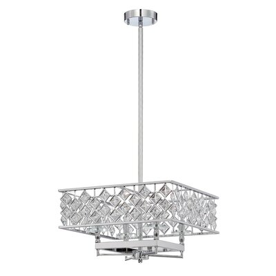 Milano 4-Light Crystal Pendant