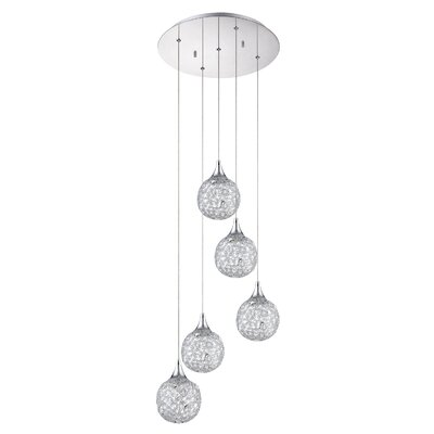 Solaro 5-Light Cascade Pendant