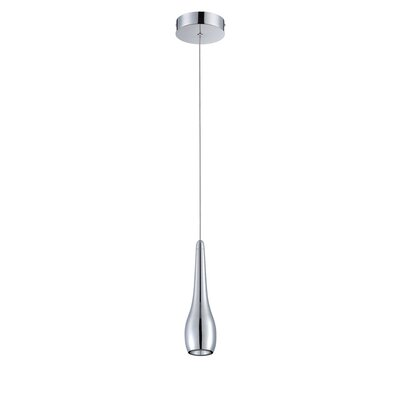 Avila 1-Light Mini Pendant Finish: Chrome