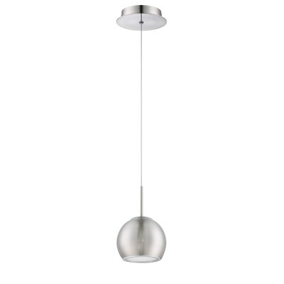 Rhondo 1-Light Mini Pendant Finish: Satin Nickel