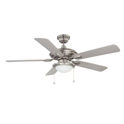52 Builders Choice 5-Blade Ceiling Fan Finish: Satin Nickel with Silver Blades